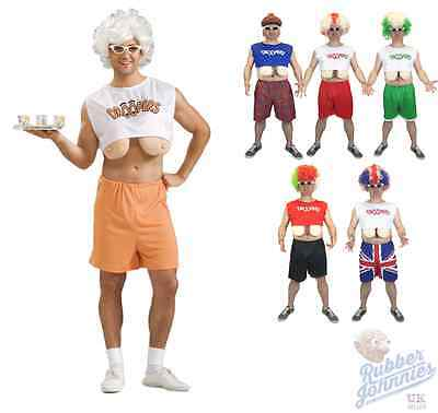 £9.97 • Buy Mens Funny Droopers Stag Party Costume Fake Boobs Stag Do Hooters Fancy Dress