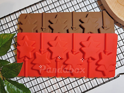 6 X Silicone Twin Star Lollipop Chocolate Mould Ice Cube Jelly Lolly Kids Fun • 3.69£