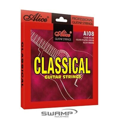 AU6.49 • Buy Alice Classical Guitar Strings - Nylon