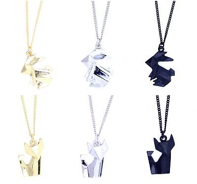 £2.24 • Buy Super Cute Paper Folding Origami Bunny Rabbit / Fox Necklace, Multiple Choices