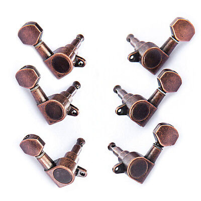 $ CDN19.31 • Buy Electric Acoustic Guitar String Tuning Pegs Tuners Red Bronze Machine Head 3R3L