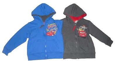 Boys Jacket Hoodie Zip Up Disney Cars 3 4 5 6 7 & 8 Years Old  • 13.99£