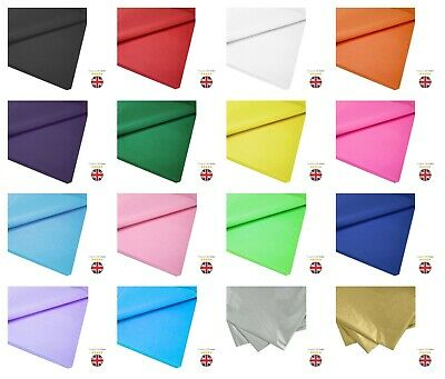 £3.75 • Buy TISSUE PAPER SHEETS ACID FREE COLOUR BLACK WHITE Gift Wrapping BIODEGRADABLE