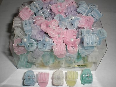 $10.49 • Buy Mini Cute Felt Pastel Plastic Hair Snap Claw Styling Clip Lot Of 144 Clips NEW