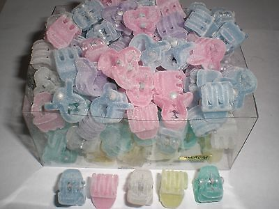 Mini Cute Felt Pastel Plastic Hair Snap Claw Styling Clip Lot Of 144 Clips NEW • 10.49$