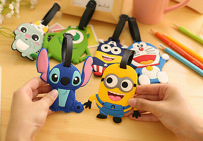 £2.97 • Buy Cute Luggage Baggage Tags Labels Name Address ID Suitcase Travel Cartoon Variety