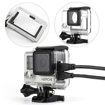 $ CDN18.48 • Buy New Side Open Protective Housing Skeleton Case Mount FPV For GoPro Hero 4 Camera
