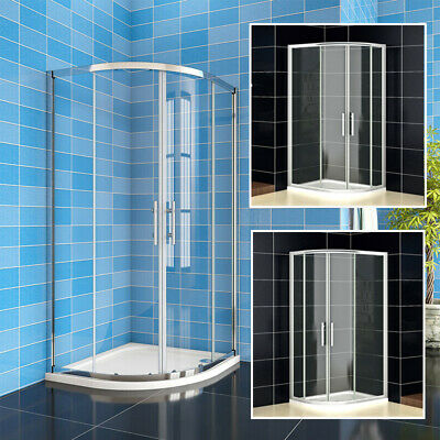 Quadrant Shower Enclosure Self-Clean Glass Cubicle Door Screen Tray+ Riser Kit • 94.99£