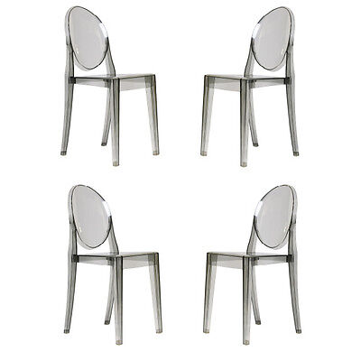 $280 • Buy Casper Zuo Side Chair In Smoke Dining Table Chairs Set Of FOUR