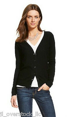 $8.99 • Buy Merona Women's Favorite Knit Textured Cardigan Sweater - Ebony (Black) - NEW NWT