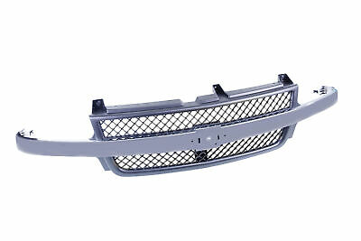 $141.12 • Buy Grille Black Shell With Chrome Bar For Chevrolet Silverado 2500 3500