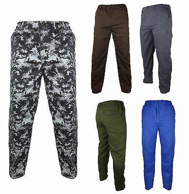 £5.95 • Buy Mens Location Military Inspired Utility Work Pants Camouflage Plain Casual Pant