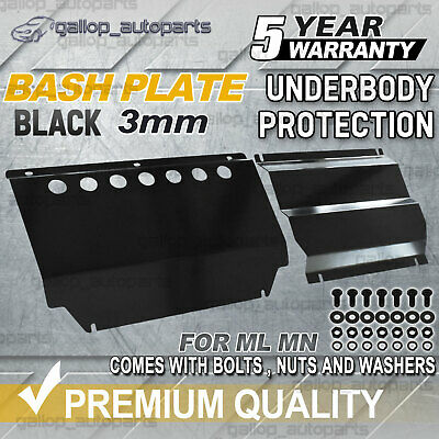 AU142 • Buy For Mitsubishi Triton Bash Plate ML-MN 3mm 2pcs Powder Coated Black HEAVY DUTY