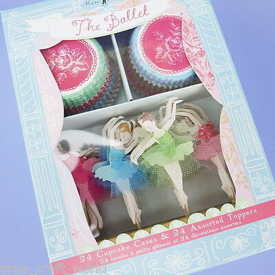 'The Ballet' Cupcake Cases & Toppers • 10.02£