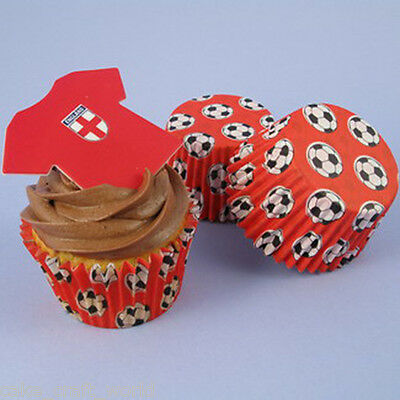 £8.46 • Buy Red Football Cupcake Cases