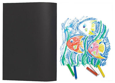 A5/A4/A3 Black Sketch Book Pad 110gsm Brilliant White Artist Drawing Sketching • 3.38£