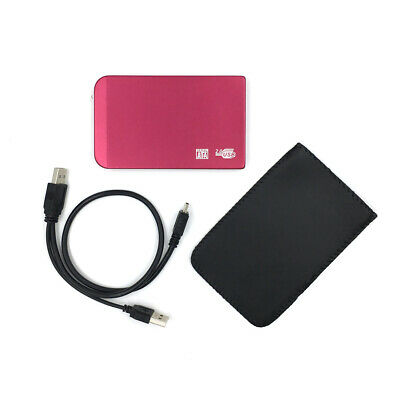 £13.98 • Buy New 250GB External Portable 2.5  USB Hard Drive HDD With Warranty RED