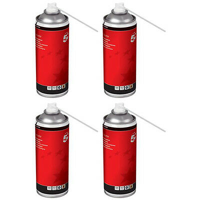 4 X 5 Star Compressed Air Duster Spray Can Computer Keyboard Dust Blower Cleaner • 19.99£