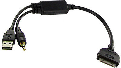 BMW X1 Series In Car Audio Cable For Apple 3GS 4 4S IPhone IPod USB & 3.5mm Aux • 9.95£