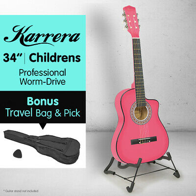 AU59 • Buy NEW PINK CHILDRENS ACOUSTIC GUITAR IDEAL KIDS GIFT 1/2 Size