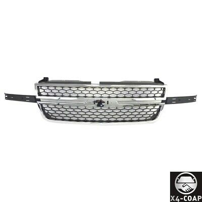 $123.50 • Buy SS Chrome Grille W/Honeycomb Insert For 03-07 Silverado 1500 2500 3500 Pickup