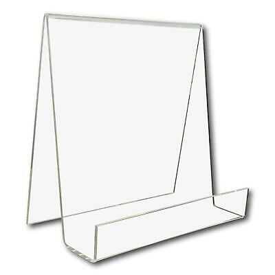 1 Large Wide Clear Perspex Acrylic Plastic Book Retail Display Stand Holder • 7.50£