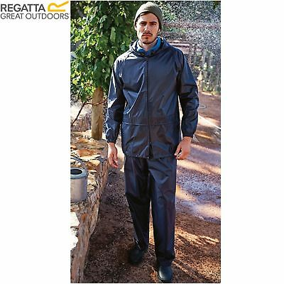 Mens Regatta Adult 2 Piece Rain Suit Waterproof Jacket Trousers Set • 16.99£
