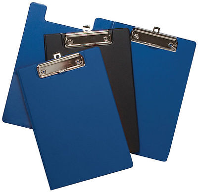 A5 Fold Over Clipboard Pvc Covered Hard Back Plastic With Metal Clip New 301333 • 4£