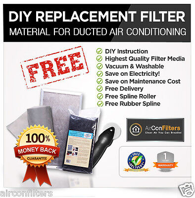 AU20.12 • Buy Ducted Air Conditioning-Air Conditioner Filter Material Media Replacement Kit