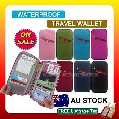 AU8.99 • Buy TRAVEL WALLET PASSPORT HOLDER DOCUMENT Organier Bag Credit Card Case New