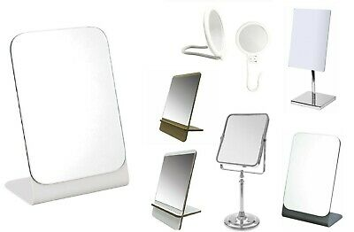 £9.95 • Buy Make Up Table Mirror Adjustable Round Square Free Standing Wall Mount Bathroom