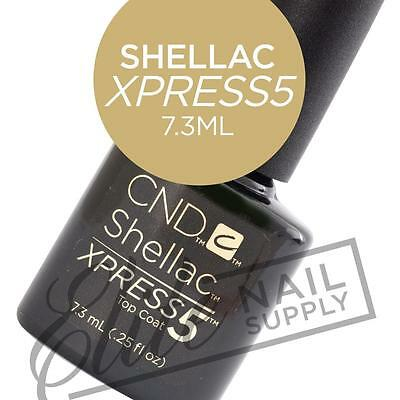 AU27.90 • Buy CND SHELLAC XPRESS5 Top Coat 7.3ml + FREE Remover Wraps 10ct Valued At $6.95