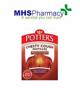 £5.99 • Buy Potters Catarrh Pastilles 45g Chesty Cough 20 Non-Drowsy
