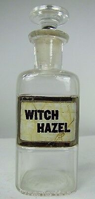 $395 • Buy Antique Witch Hazel Apothecary Glass Bottle Drug Store Medicine Advertising