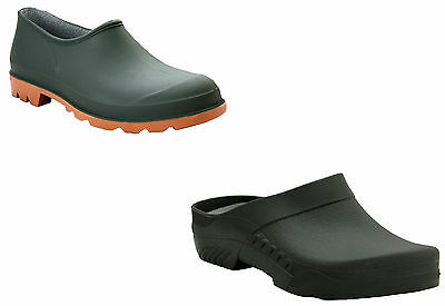 Mens Womens Slip On Gardening Wellies Waterproof Rain Ladies Garden Clogs Shoes • 8.99£