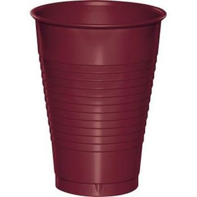 Burgundy 16 Oz Plastic Cups 20 Per Pack Burgundy Decorations & Party Supplies • 2.81£