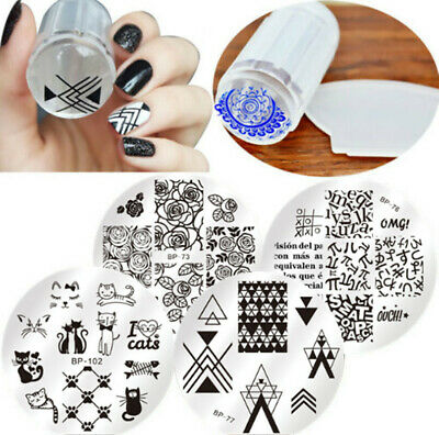 $2.84 • Buy 6Pcs/set BORN PRETTY Nail Art Stamping Plate Stamper Scraper Template Image Tool