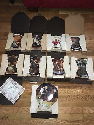 $ CDN202.51 • Buy Lot Of 9 Norman Rockwell Plates , With Original Boxes And Certificate Of Authent