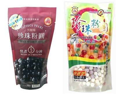£9.80 • Buy UK Seller! Wufuyuan Tapioca Pearl 250g Black And Colour For Bubble Tea Drink