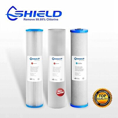 AU99.95 • Buy Triple 20  X 4.5  Big Blue Whole House Water Filter Replacement Pack 3 Stages