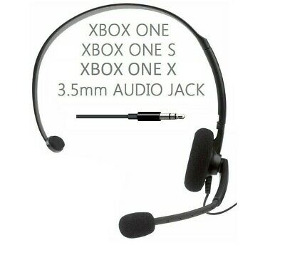 £6.95 • Buy GENUINE XBOX ONE S X CHAT HEADSET + Mic Gaming Headphones 3.5mm NEW **CHEAPEST**