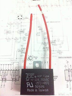 AU7.64 • Buy CAPACITOR 7MFD, 7 Mfd, 7uF, 250VAC ADP Type, TRUE VOLTAGE