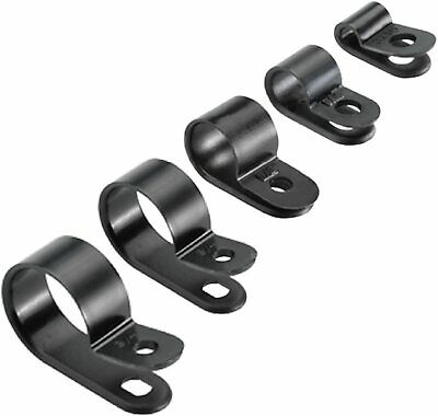£1.75 • Buy Nylon Black P Clips Fasteners For Cable Conduit Tubing Wire Sleeving Plastic