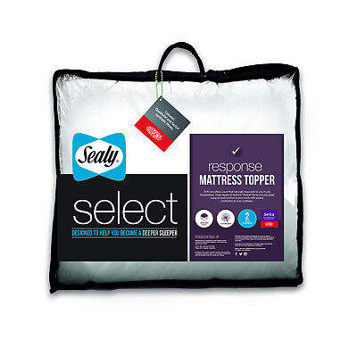 £32.99 • Buy Sealy Select Response 5cm Mattress Topper Thick Best Single Double King Super