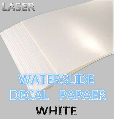 A4 Laser Printer Water Slide Decal Paper 10 Sheets White X 50 Packs In ONE Case • 348£