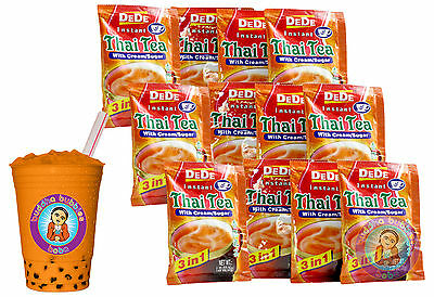 12 DeDe 3 In 1 Instant Tea Packs Makes 12 Cups BUDDHA BUBBLES BOBA • 10.69£