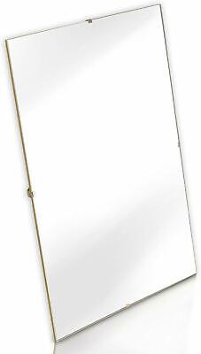 £3.99 • Buy Clear Glass/Frameless Quality Clip Frames High Quality Photo Poster Frames