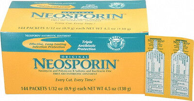 NEOSPORIN Original First Aid Antibiotic Ointment 1/32 Oz Foil Packet 144/BX New • 34.46£