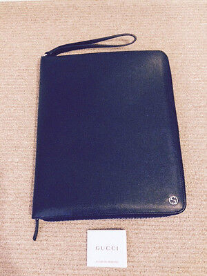 48445fb109b0 Gucci GG Zip Around Ipad Case Black , All Leather Retails For $ 830 • 295.35