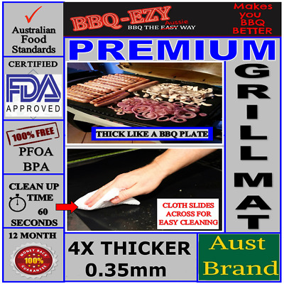 AU18.95 • Buy BBQ Grill Mat Rigid(4*Thick) PREMIUM Non Stick Money Back Guarantee AUSSIE BRAND